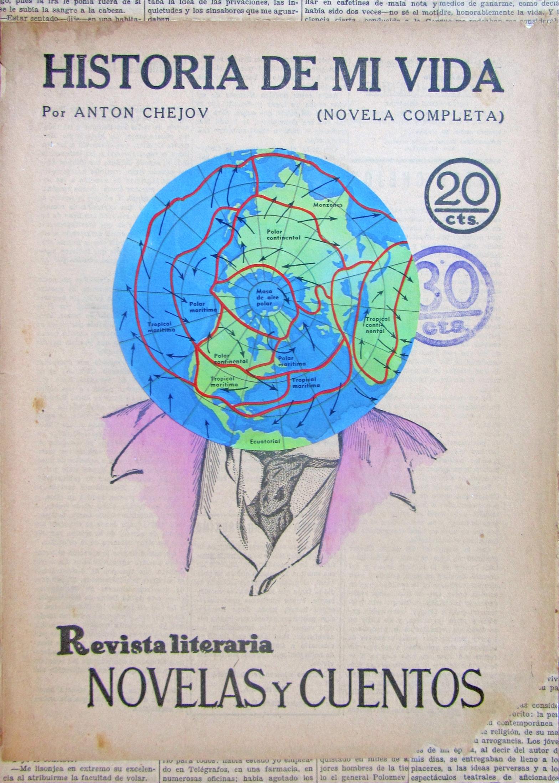 Historia de mi vida, Novelas y cuentos, revista literaria, céntimos, collage, vintage paper, antiguo, arte, diseño gráfico, Laura Ups