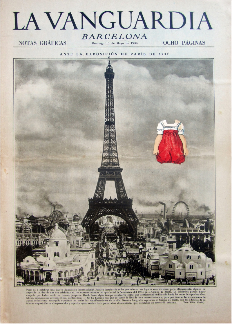 Red in Paris_Laura UPS, collage, alma, Torre Eiffel, Eiffel Tower, Paris, architecture