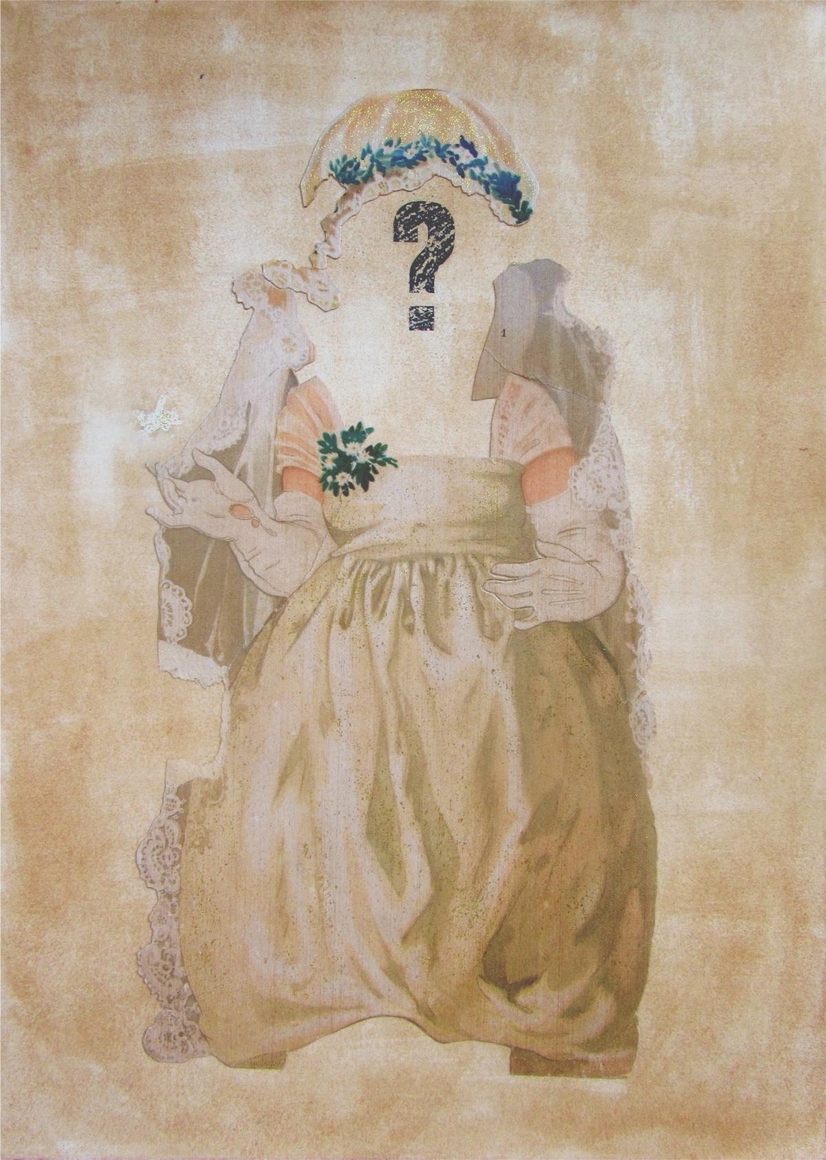 The bride_LauraUPS, collage, novia, vestido de novia, arte, vintage